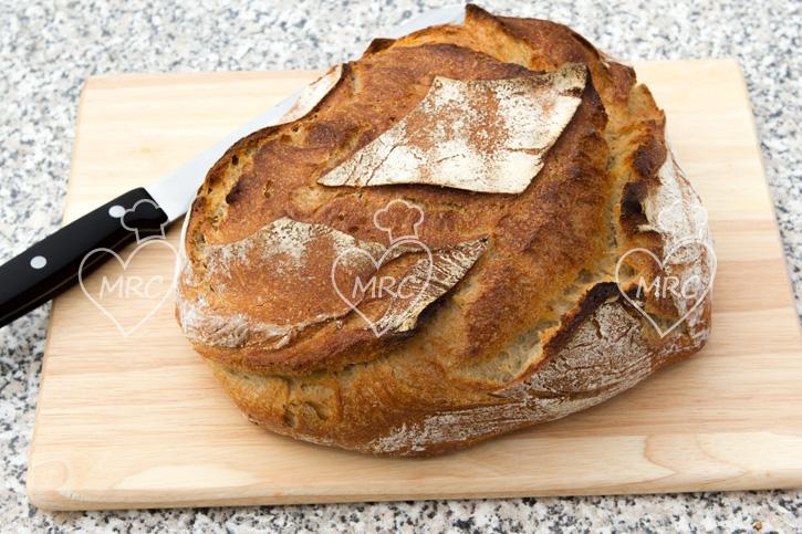 pan de masa madre preparado con thermomix