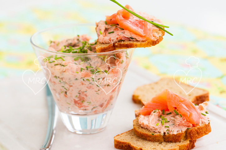 pate de salmon y langostinos