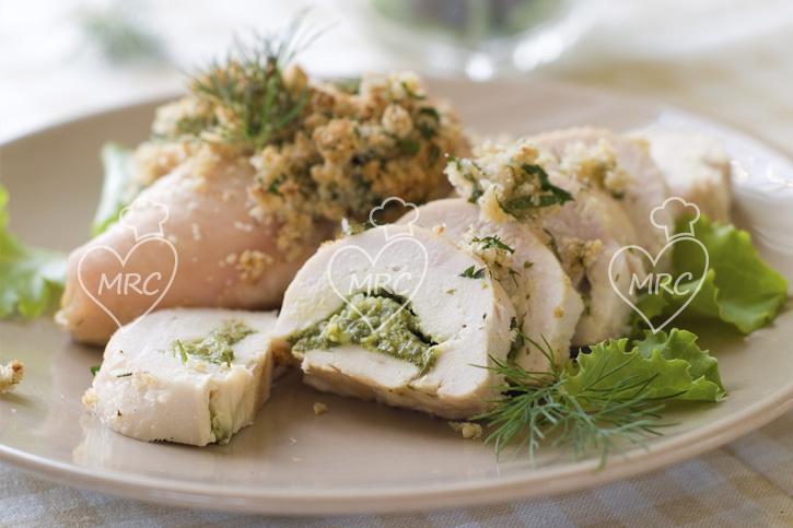 pechuga pollo rellenas con hierbas aromaticas