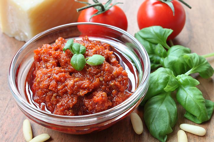 preparar pesto siciliano rojo themomix