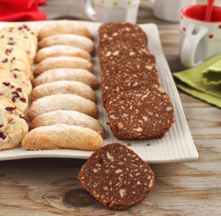 salchichon de chocolate y galletas con thermomix