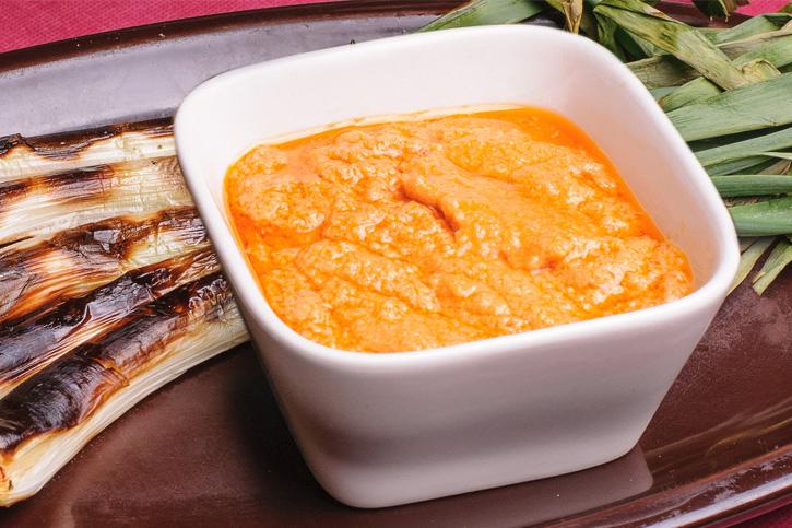 Receta salsa romesco preparada con Thermomix