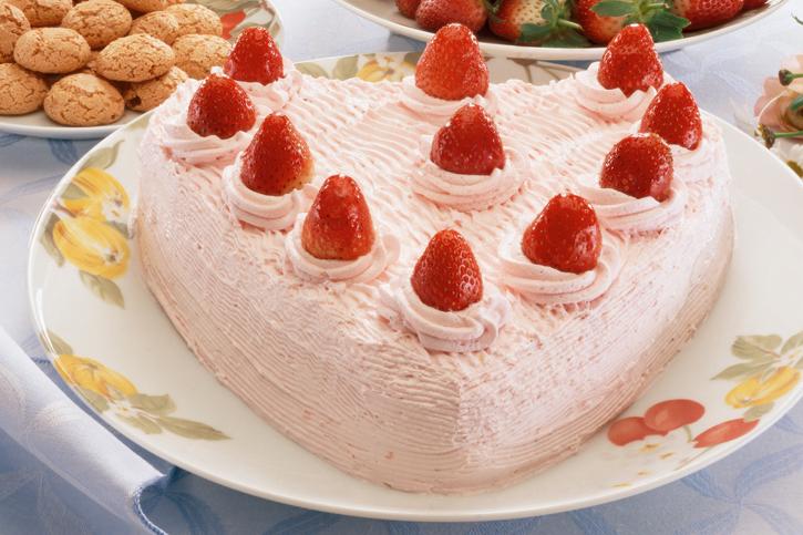 tarta chocolate y fresa san valentin preparada con thermomix