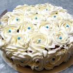 Tarta de crema de mantequilla sabor vainilla