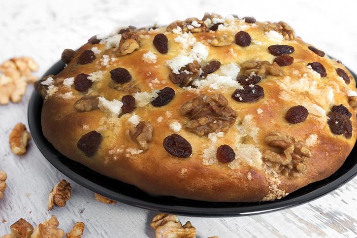 torta de pasas con nueces receta thermomix