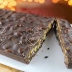 Turrón de chocolate con quicos