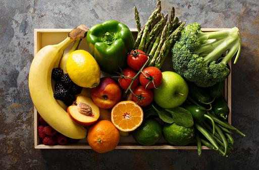 verduras y frutas de temporada invierno
