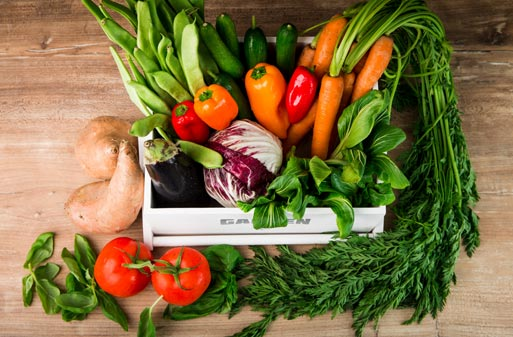 verdura y futa primavera temporada