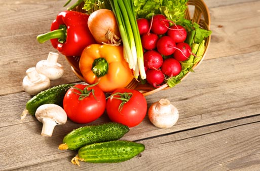 verdura y fruta de temporada verano