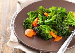 Brócoli y zanahoria al vapor